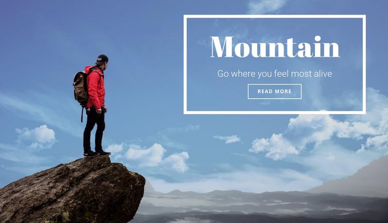 Mountain calling  Web Page Design