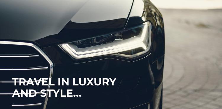 Luxury travel style Html Website Builder
