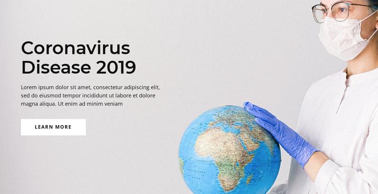 Coronavirus disease One Page Template