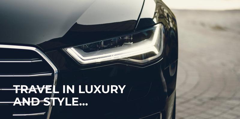 Luxury travel style Web Page Design