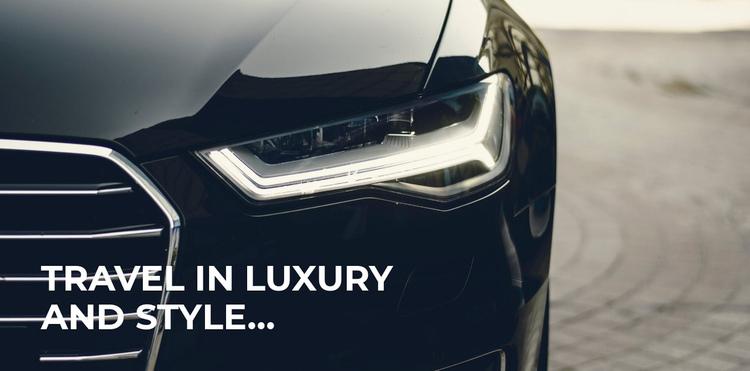 Luxury travel style Website Builder Software