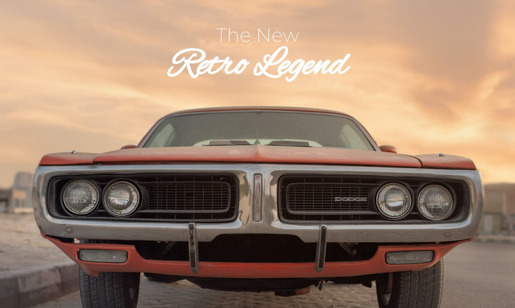 Retro legend Website Mockup