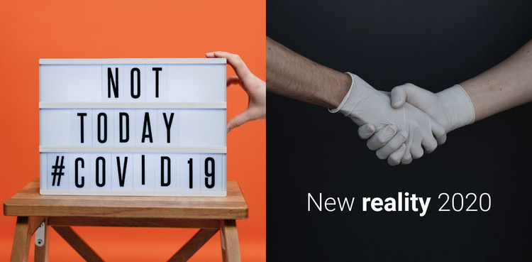 Not today covid19 Website Template