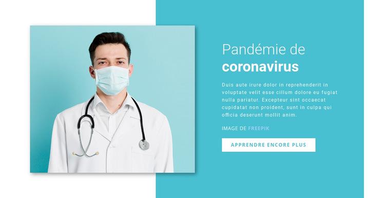 Mise à jour sur le coronavirus Modèle de site Web