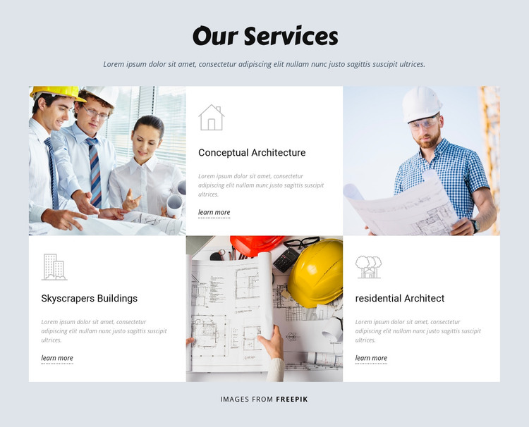 Developing world projects Homepage Design