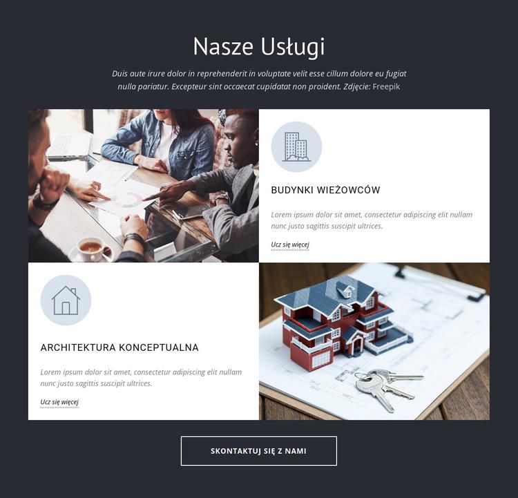 Architekci projektują usługi grupowe Szablon witryny sieci Web
