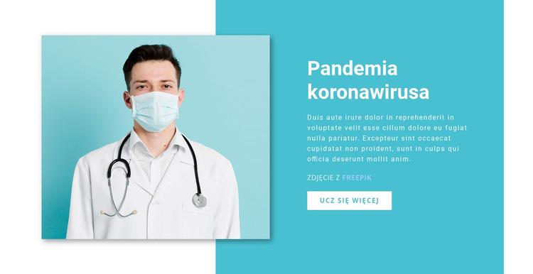 Koronawirus nowe informacje Szablon witryny sieci Web
