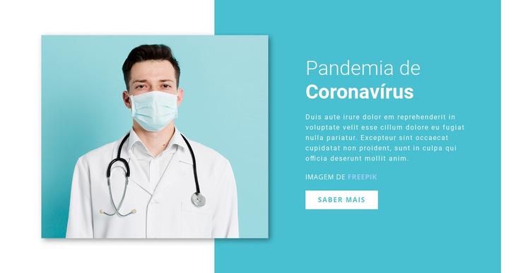 Atualização do coronavírus Modelo de site