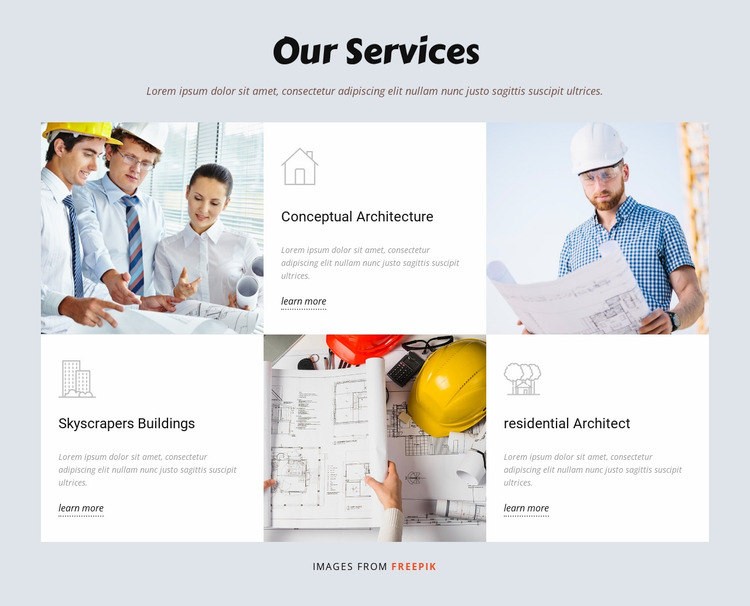 Developing world projects Website Mockup