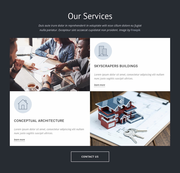 Architects design group services Website Template