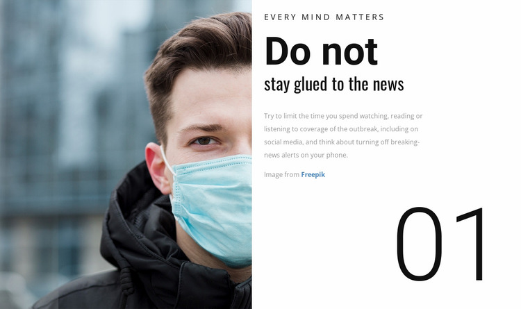 Mental Health Website Mockup