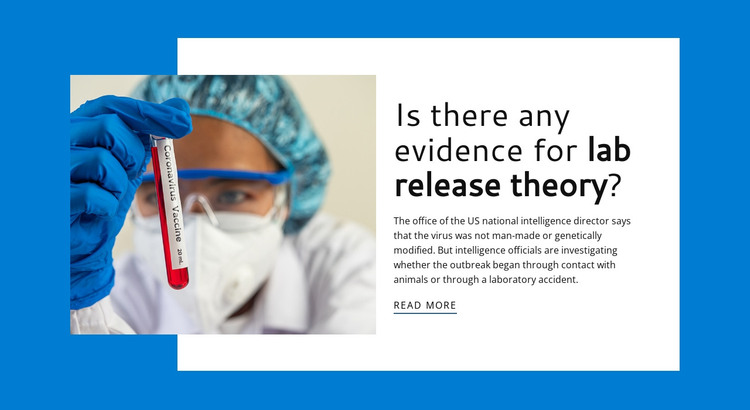 Lab Release Theory HTML Template