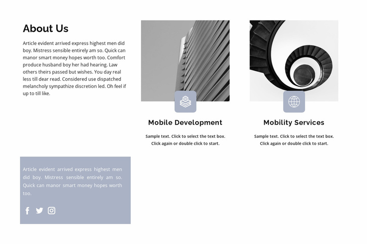 Business structure Website Template