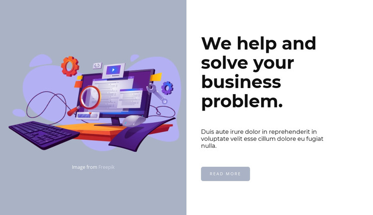 Help in design creation HTML Template