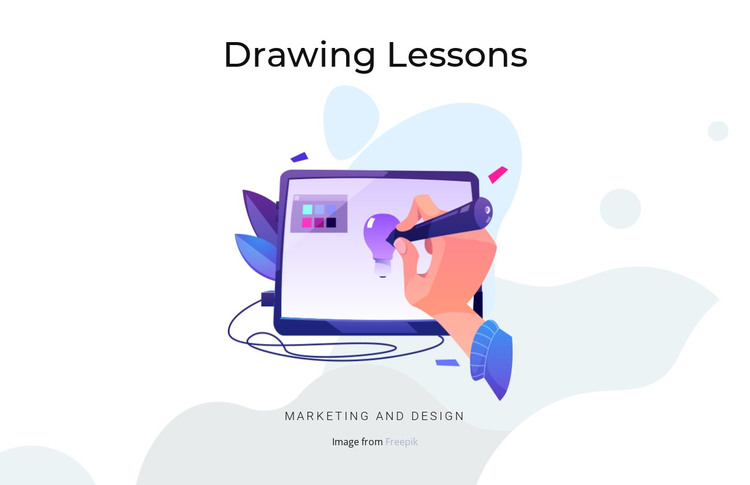 Drawing lessons HTML Template