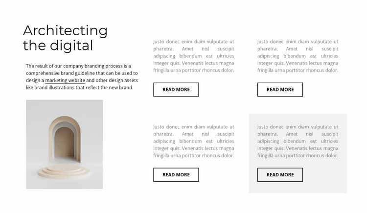 Four columns with text Website Template
