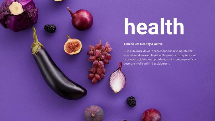 Composition of vegetables Website Template