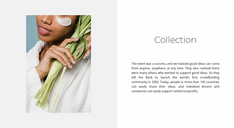 Care collection Website Template