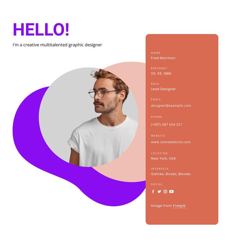 Important skills HTML Template