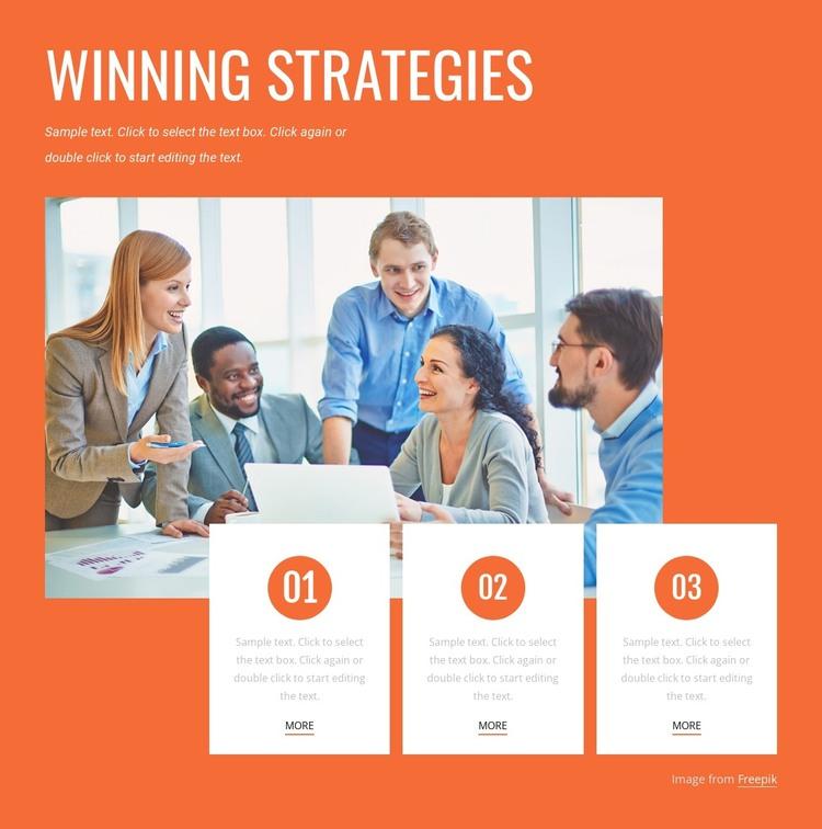 Winning strategies HTML Template