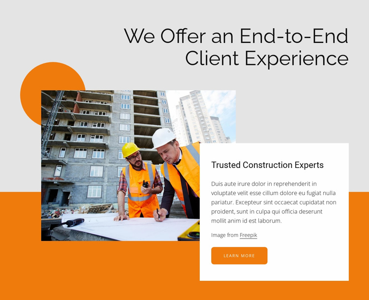 Trusted construction experts Website Template