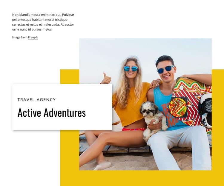 Active adventures Website Template