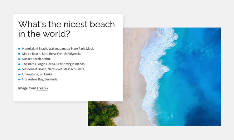 The nicest beaches HTML Template