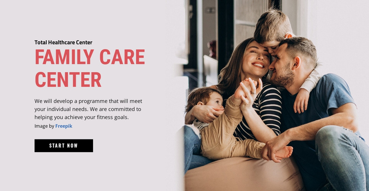 Family Care Center One Page Template