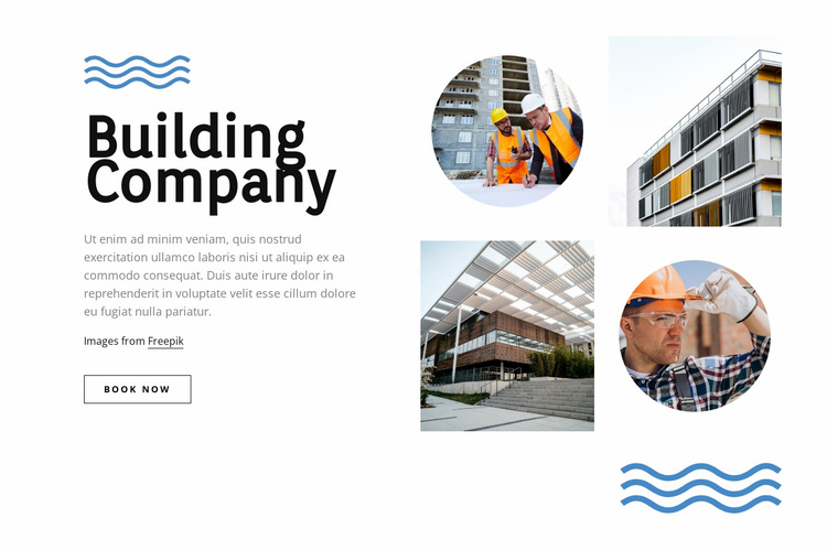 A full-service construction conpany Website Template