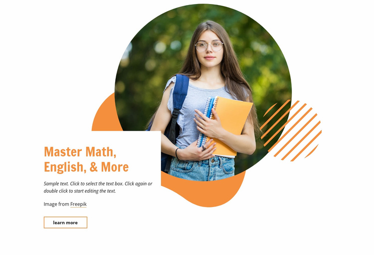 Master math, english and more Website Template
