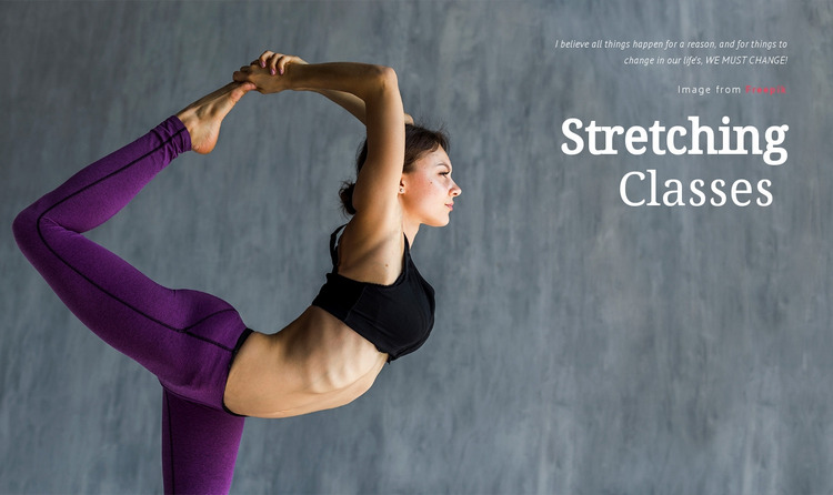 Stretching Classes Html Website Builder