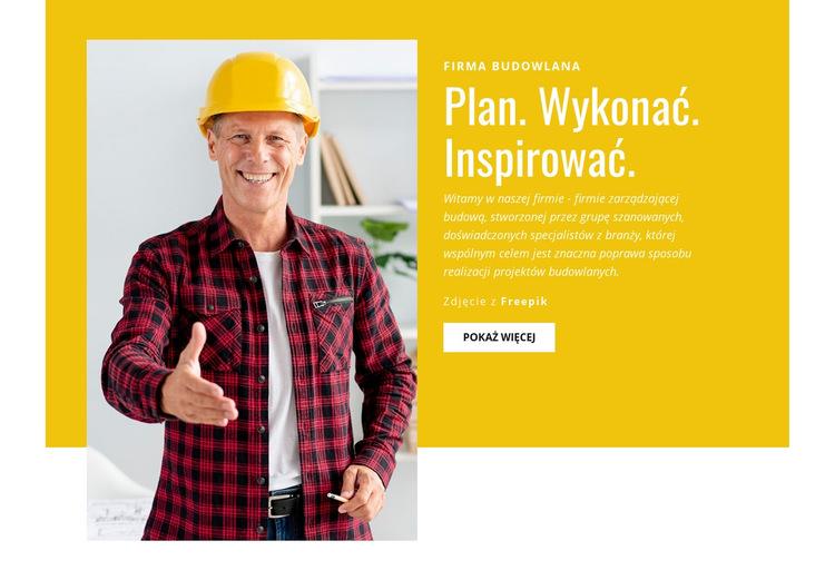 Firma zarządzająca budową Szablon witryny sieci Web