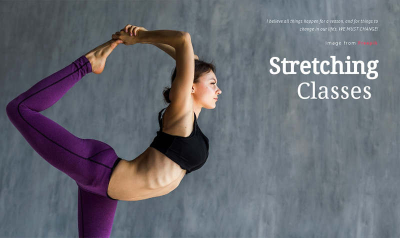 Stretching Classes Web Page Design