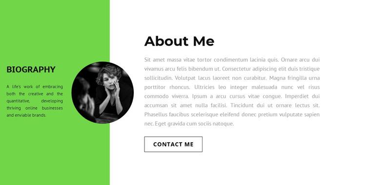 Employee information HTML Template