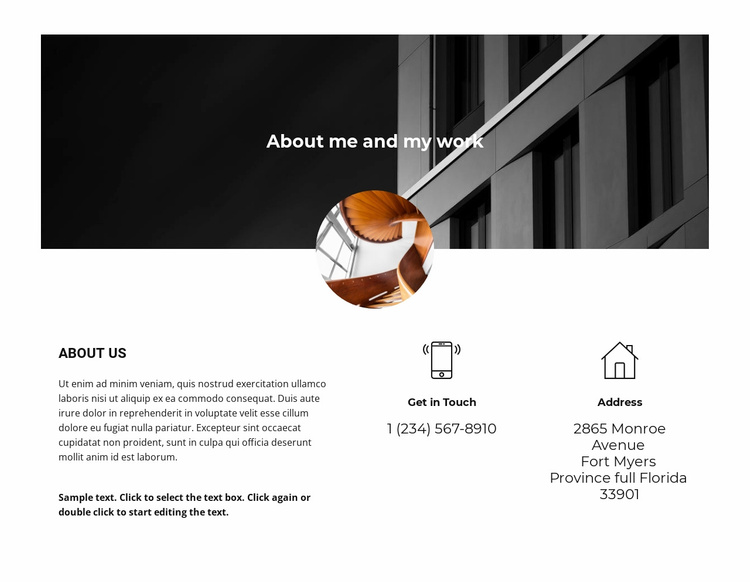 Contact and information Website Template