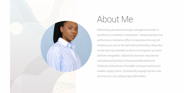 About our partner Website Template