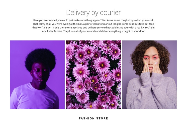 Gallery in purple tones HTML Template