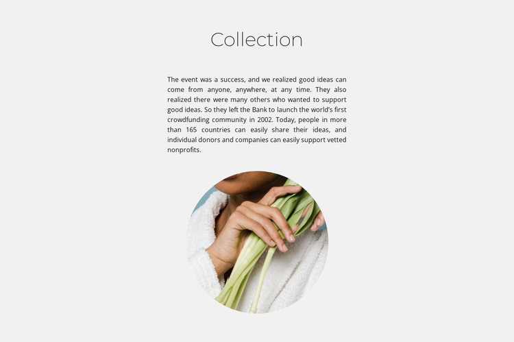 Spa collection HTML Template