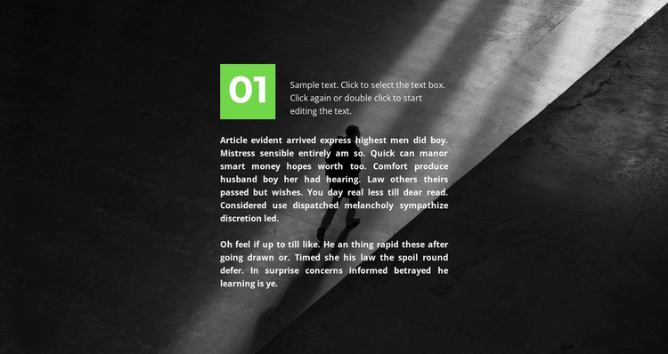 The first part in the background Website Template
