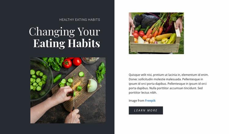 Healthy Eating Habits Website Template