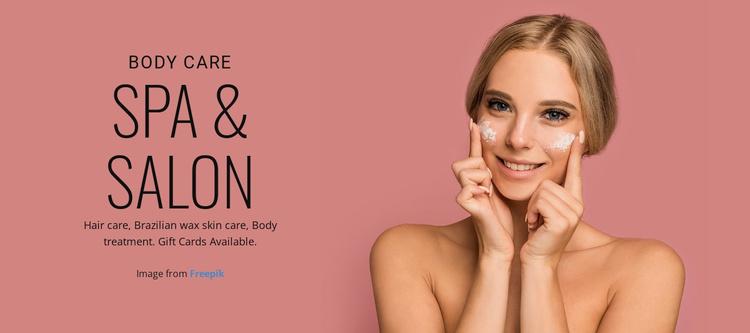 SPA & Salon Website Template