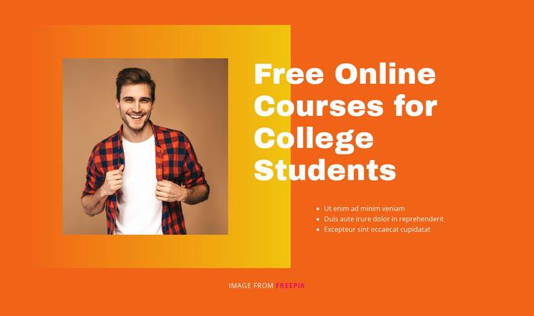 Learn job-ready skills Website Mockup
