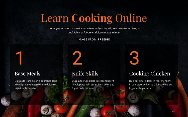 Cooking online courses Html Code Example