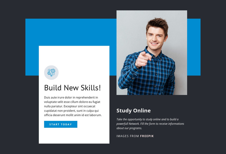 Build New Skills HTML Template