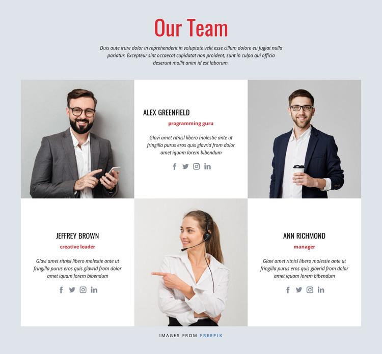 Successful design team HTML Template