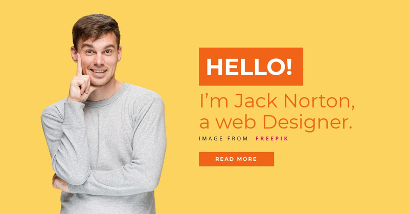 I'm Jack Norton, a web Designer. Web Page Design