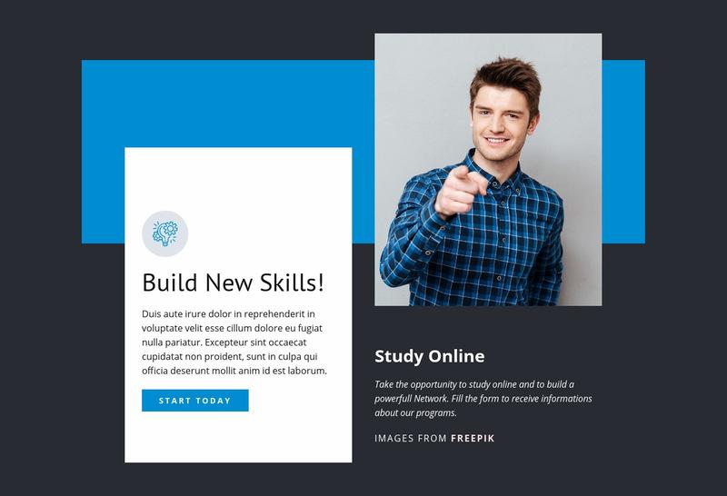 Build New Skills Web Page Designer