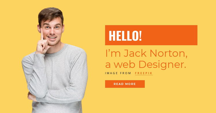 I'm Jack Norton, a web Designer. Landing Page