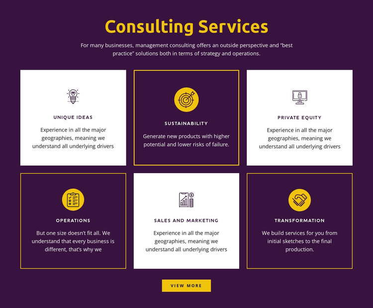Global consulting services Website Builder Software