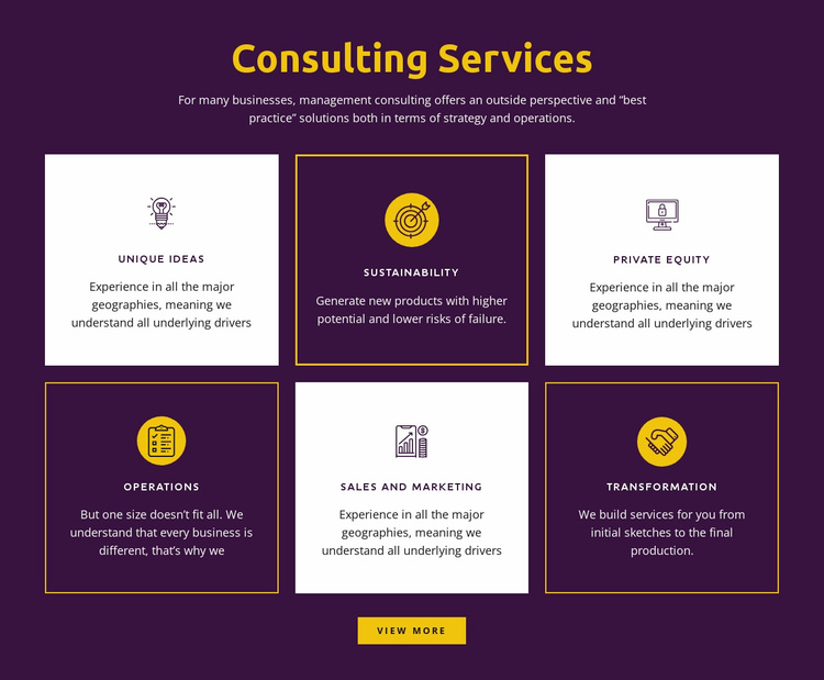Global consulting services Website Template